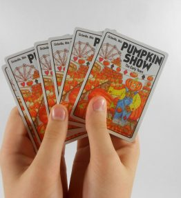 100th Anniversary Pumpkin Show Souvenir Playing Cards from Real Souvenir Playing Cards