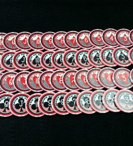 Cardians - Poker Chips with Playing Cards Printed on Them - Includes 55 Chips