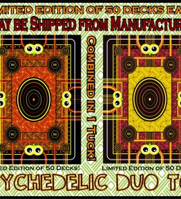 PSYCHEDELIC DUO TOO Set of Limited Edition (50 Sets) Playing Cards