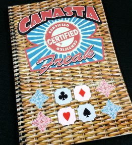 Canasta Score Pad for the Certified Canasta Freak - Includes 100 Scoring Sheets