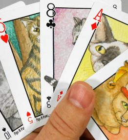 Cats Pips & Paws Playing Cards featuring Cats with Seek-N-Find Hidden Images