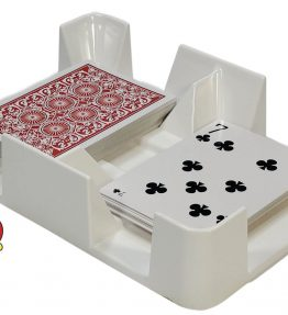 White Plastic Cardian Playing Card Tray or Caddy - Non-Swivel - MADE IN USA