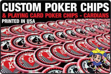 Customize a set of poker chips or get our Cardians Playing Cards.