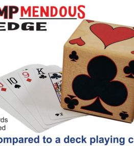 Trumpmendous EDGE Trump Marker compared to deck of cards