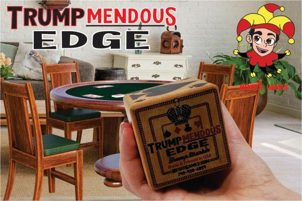 Trumpmendous EDGE Trump Marker in front of game room table