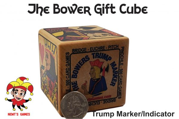 The Bowers Trump Cube compared to quarter