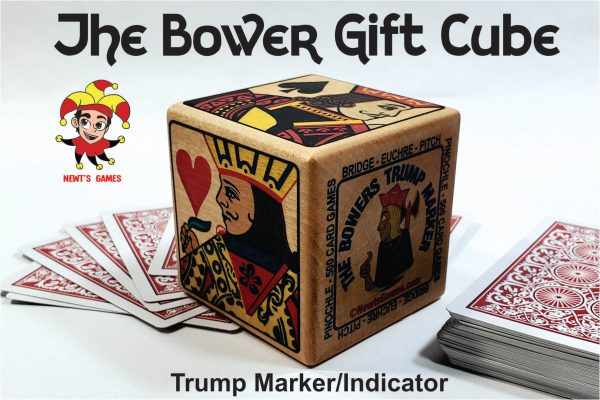 The Bowers Trump Cube showing backs of playing cards