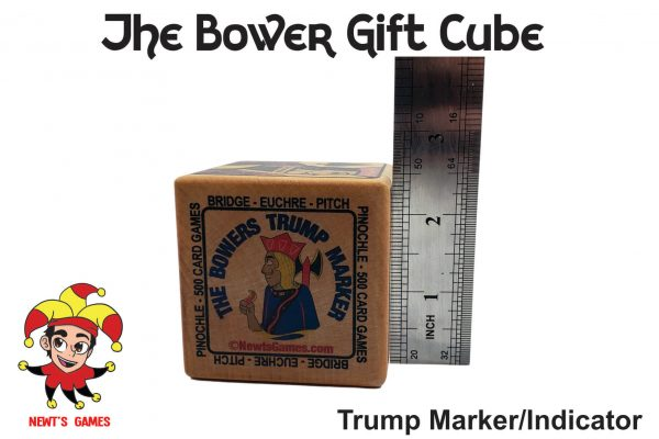 The Bowers Trump Gift Cube showing size